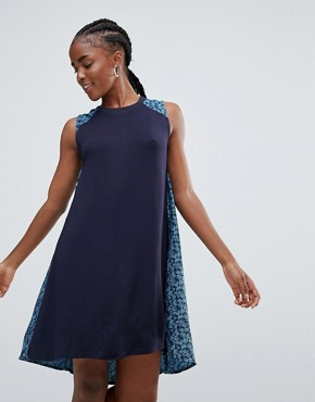 photo Lewisia Belted Swing Dress by Bellfield, color Navy - Image 1