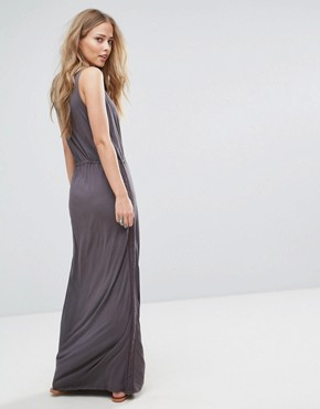 photo Violet Lace and Ladder Maxi Dress by Bellfield, color Grey - Image 2
