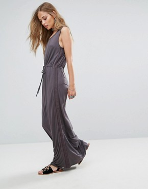 photo Violet Lace and Ladder Maxi Dress by Bellfield, color Grey - Image 1