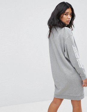 photo Sweat Dress with Arm Print by Santa Cruz, color Grey Heather - Image 2