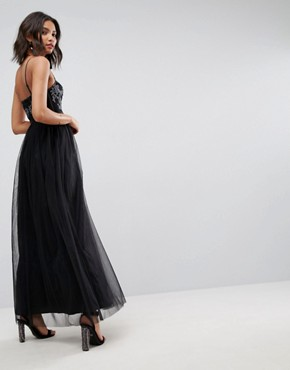 photo Tulle Maxi Dress by ASOS, color Black - Image 2