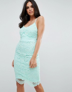 photo Lace Midi Dress by Forever Unique, color Green - Image 1