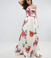 photo Sleeveless Maxi Floral Prom Dress by Forever Unique, color Multi - Image 1