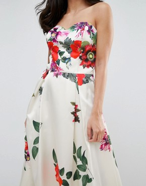 photo Sleeveless Maxi Floral Prom Dress by Forever Unique, color Multi - Image 3