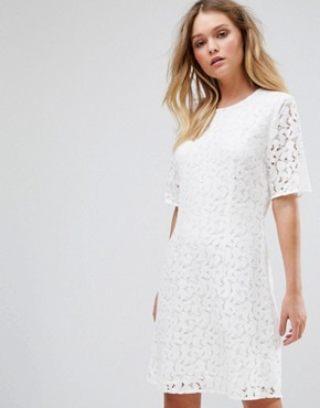 photo Lace Dress by Selected, color Snow White - Image 1