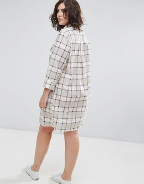 photo Shirt Dress in Check by ASOS CURVE, color Multi - Image 2