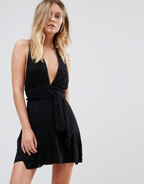 photo Twist Back Detail Sundress by Pull&Bear, color Black - Image 2