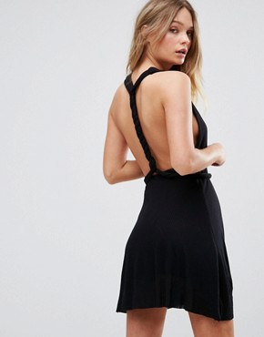 photo Twist Back Detail Sundress by Pull&Bear, color Black - Image 1
