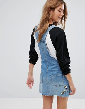 photo Snoopy Dungaree Dress by Pull&Bear, color Blue - Image 2