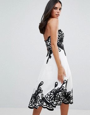 photo Border Strapless Dress by Forever Unique, color White - Image 2