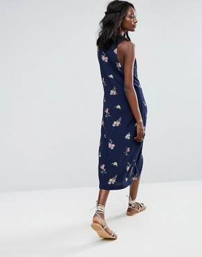 photo Twist Front Dress by Majorelle, color Navy Floral - Image 2