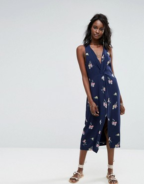 photo Twist Front Dress by Majorelle, color Navy Floral - Image 1