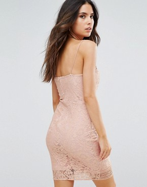 photo Lace Midi Dress by AX Paris, color Pink - Image 2