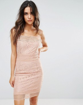 photo Lace Midi Dress by AX Paris, color Pink - Image 1