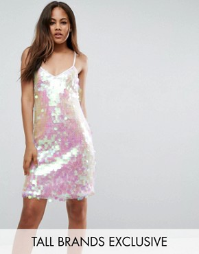photo Mini Dress in Iridescent Sequin by NaaNaa Tall, color Iridescent - Image 1