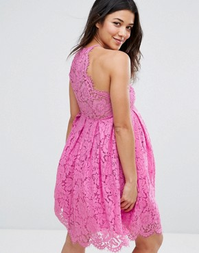 photo Lace Scallop Mini Prom Dress by ASOS Maternity, color Pink - Image 2