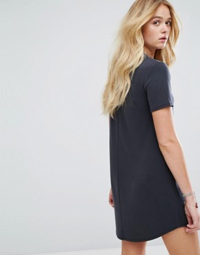 photo T-Shirt Dress by Abercrombie & Fitch, color Black - Image 2