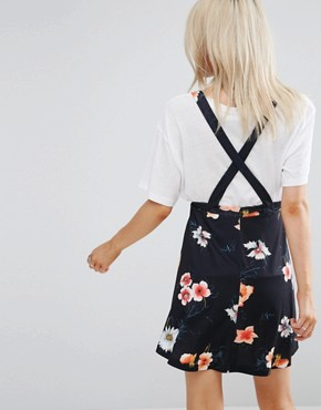 photo Pinafore Dress in Floral Print by ASOS PETITE, color Multi - Image 2