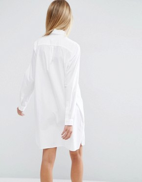 photo Cotton Shirt Dress by ASOS, color White - Image 2