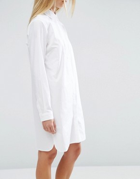 photo Cotton Shirt Dress by ASOS, color White - Image 3