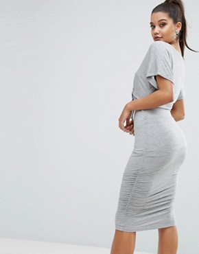photo Tie Dress by Kendall + Kylie, color Grey - Image 2