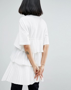 photo Satin and Tulle Mini Dress by ASOS WHITE, color White - Image 2