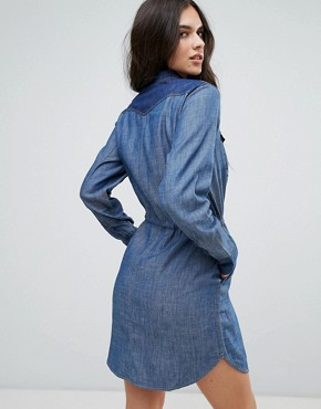 photo Tacoma Denim Shirt Dress by G-Star, color Rinsed - Image 2