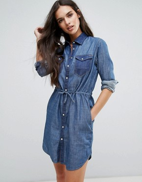 photo Tacoma Denim Shirt Dress by G-Star, color Rinsed - Image 1