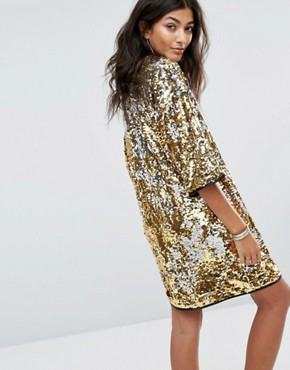 photo Love Flip Sequin Dress by RAGYARD Festival, color Gold/Silver - Image 2
