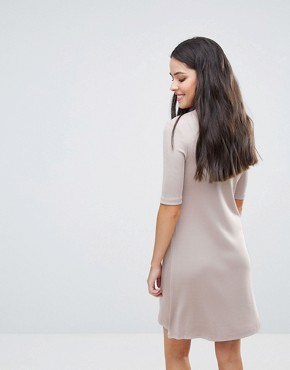 photo Sheila High Neck Glossy Dress by Y.A.S, color Grey - Image 2