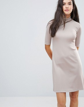 photo Sheila High Neck Glossy Dress by Y.A.S, color Grey - Image 1