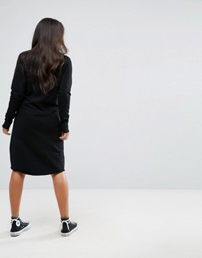 photo Long Sleeve Sweater Dress with Eyelet Lace Up Detail by Supermom, color Black - Image 2