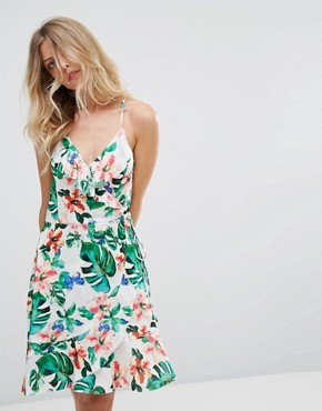 photo Tropical Wrap Dress by Mango, color Tropical Print - Image 1
