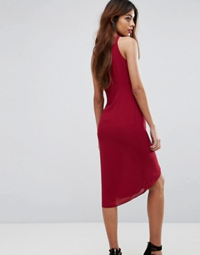 photo Frill Midi Dress by Sisley, color Berry - Image 2