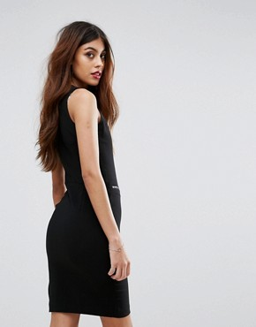 photo Zip Up Pencil Dress by Sisley, color Black - Image 2