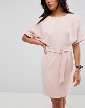 photo Mini Pencil Dress with D-Ring Belt by ASOS ULTIMATE, color Blush - Image 3
