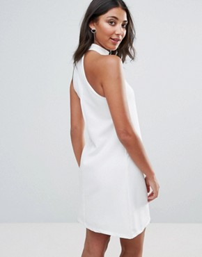photo Shift Dress with Tie Detail by Oh My Love, color Ivory - Image 2