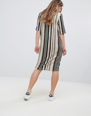 photo Damara Print Jersey Dress by Pieces, color Multi Stripe - Image 2
