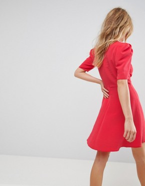 photo Mini Tea Dress by ASOS, color Red - Image 2
