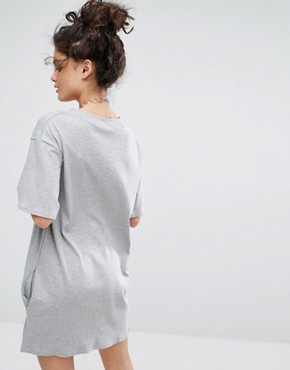 photo Take Me To The Weekend T-Shirt Dress by Adolescent Clothing, color Grey - Image 2