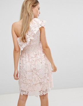photo Lace One Shoulder Dress by Vero Moda, color Angel Wing - Image 2
