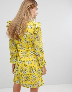 photo Floral Shift Dress by Vero Moda, color Yellow Print - Image 2