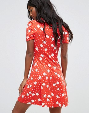 photo Mini Tea Dress in Star Print by ASOS, color Star Print - Image 2