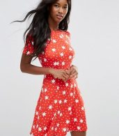 photo Mini Tea Dress in Star Print by ASOS, color Star Print - Image 1