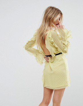 photo Milton Mini Dress by Millie Mackintosh, color Sunshine Spot - Image 2