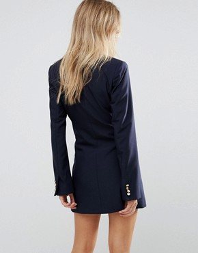 photo Cecille Tuxedo Dress by Millie Mackintosh, color Navy - Image 2