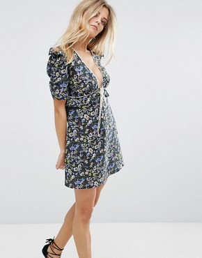 photo Farley Mini Dress by Millie Mackintosh, color Forest - Image 1
