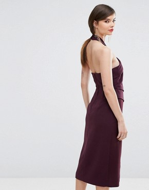 photo Don't Stop Midi Dress by C/meo Collective, color Aubergine - Image 2