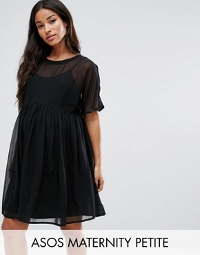 photo Woven Smock Dress by ASOS Maternity PETITE, color Black - Image 1