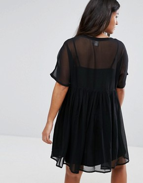 photo Woven Smock Dress by ASOS Maternity, color Black - Image 2